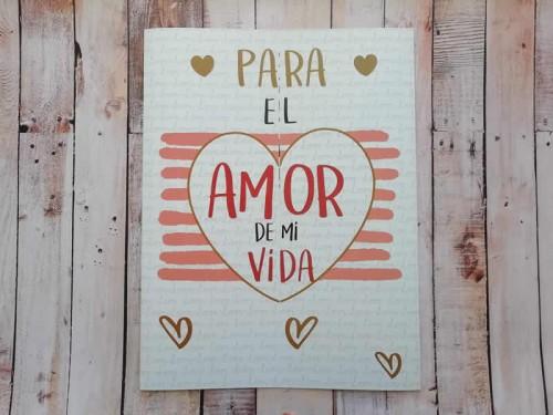 """Super tarjeta con fotos """"Para el amor de mi vida"""""""